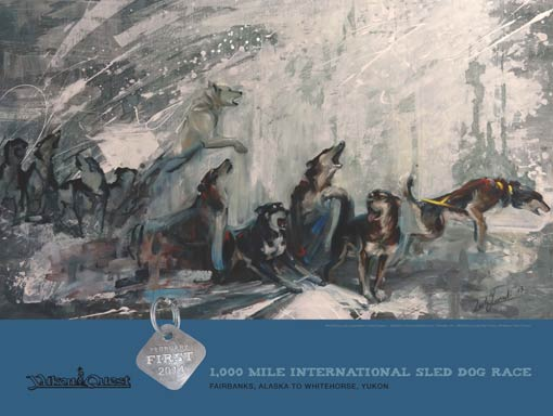 2014 Yukon Quest Race Poster